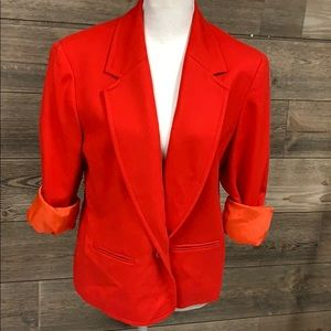 VINTAGE PENDLETON Ladies BLAZER RED WOOL jacket 12